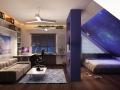 Дизайн мансардной комнаты для подростка