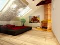 Интерьер мансардной комнаты