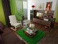 Интерьер гостиной в зеленых тонах