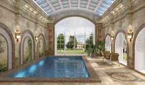 мозаичное панно в бассейн
