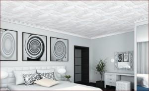 оклейка потолка потолочными плитами