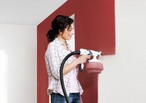 Покраска стен  распылителем