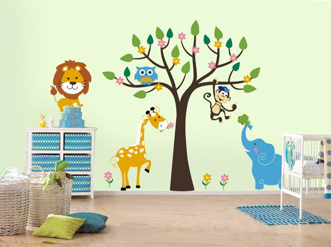 Трафареты в интерьере детской комнаты
