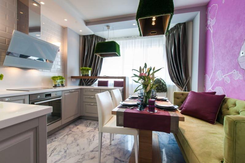 Дизайн кухонь 10 кв м с диваном