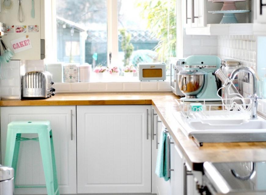 кухня интерьер в пастельных тонах