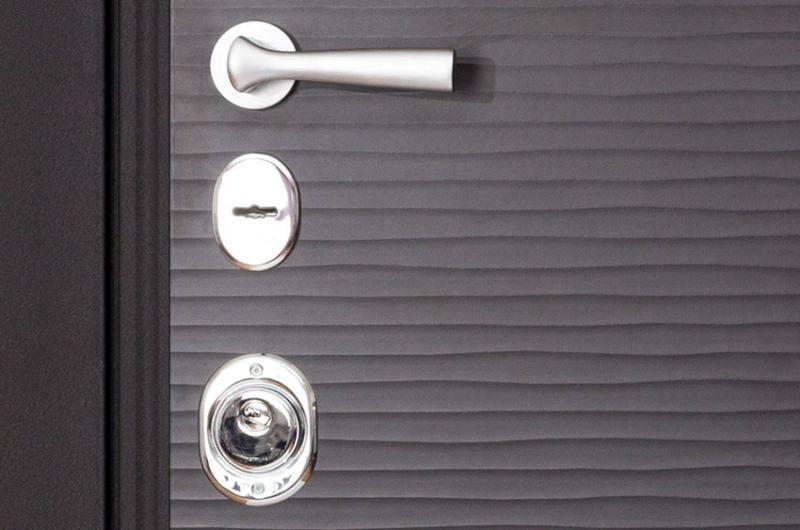 Металлические шпонированные двери