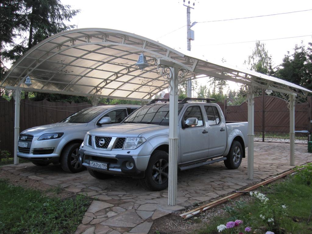Как сделать стоянку для машины на даче