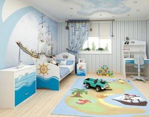 детская комната для ребенка до 2 лет