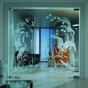 сделать узоры на стекле