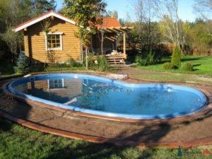 установить бассейн на загородном участке