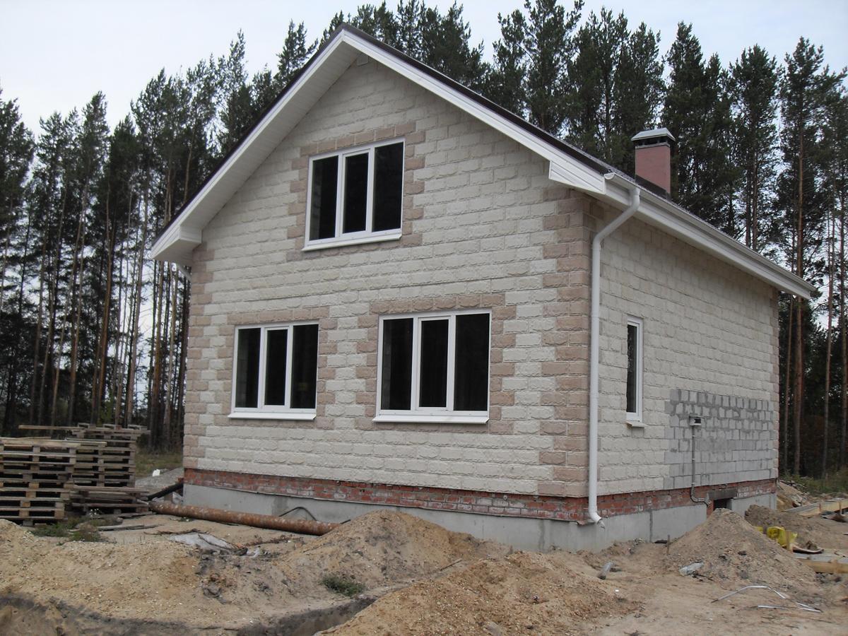 Построить дом из пеноблока проекты фото