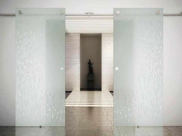 Рельсовые раздвижные двери