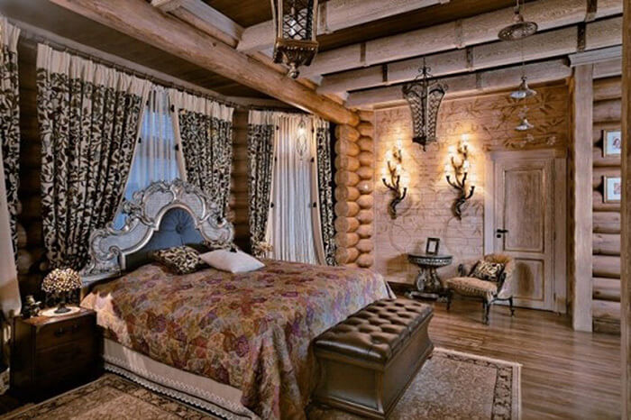 дом из бруса в стиле кантри