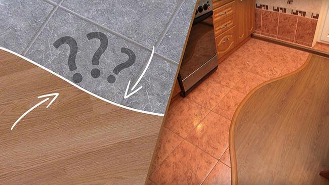 Как сделать пол плитка с ламинатом