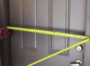Размеры входной металлической двери