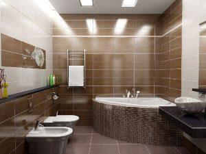 Прокладка освещения в ванной комнате