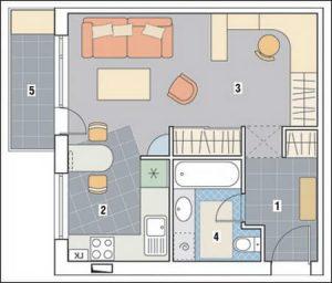 перепланировка комнаты
