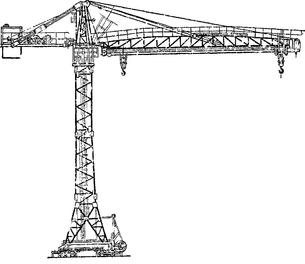Конструкция башенных кранов