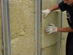 утеплить стену минеральной ватой