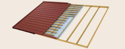 монтаж крыши из металлочерепицы 2