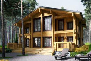 Деревянный дом из бруса 2018