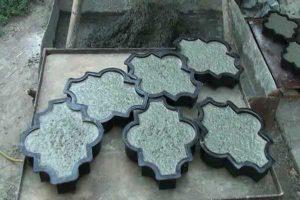 Изготовление вибролитой тротуарной плитки в домашних условиях