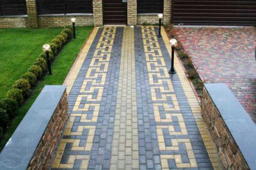 садовые дорожки из тротуарной плитки 2