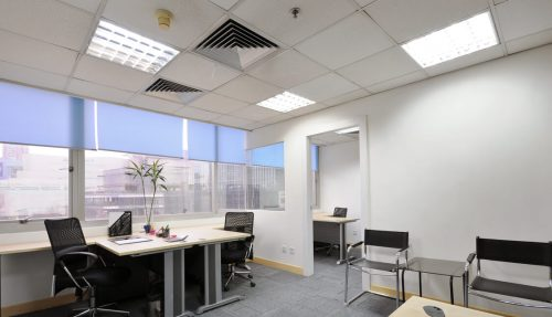 расположение светильников в офисе