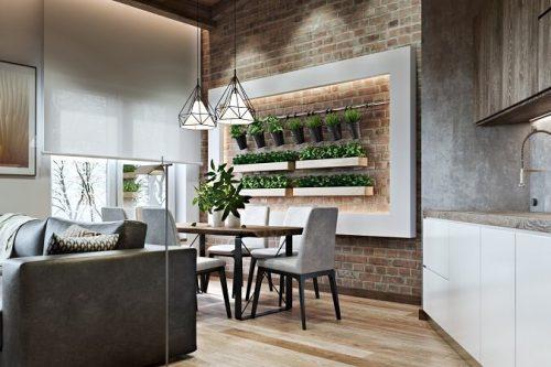 экологичный дизайн помещения 2018