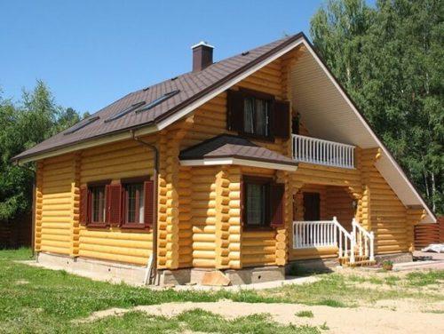 строительство дома из бруса 1
