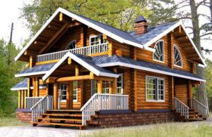 дом из дерева в духе старорусского зодчества