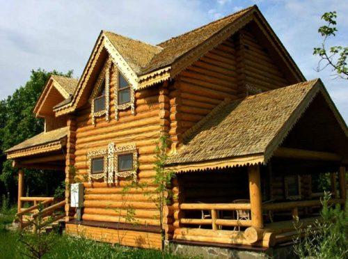 дом из дерева в духе старорусского зодчества 2