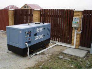 стационарный электрогенератор бытовой